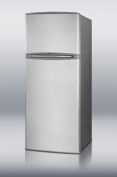 Frost-free refrigerator-freezer in slim width with stainless steel door and platinum cabinet