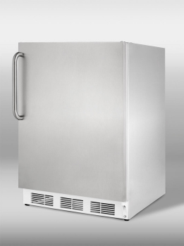 Built-in undercounter refrigerator-freezer in complete stainless steel