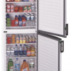 Two-door, single zone upright all-refrigerator with automatic defrost and large capacity