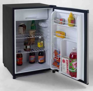 4.5 CF Counterhigh Refrigerator - Black w/Stainless Steel Door