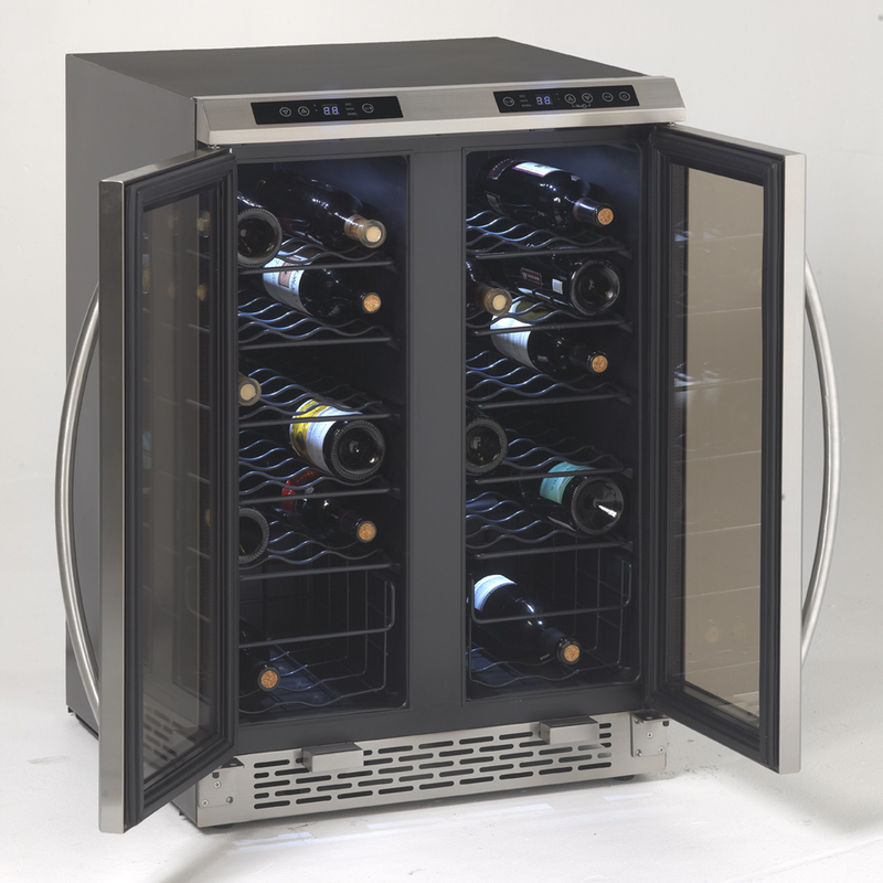 Side-by-Side Dual Zone Wine Chiller