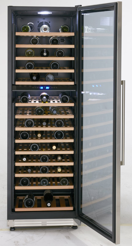Model: WCF154S3SD | Avanti Up to 154 Bottles Designer Series Dual Zone Wine Chiller