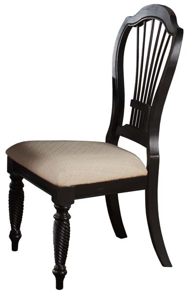 Wilshire Dining Side Chair Rubbed Black