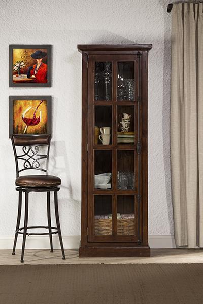 Tuscan Retreat Tall Single Door Cabinet - Rustic Mahogany
