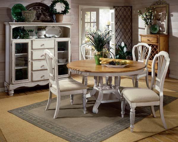 Wilshire Round Dining Antique White