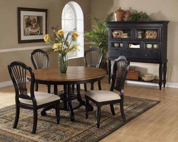 Wilshire Round Dining Table - Black