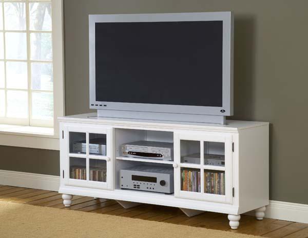 "Hillsdale Furniture Grand Bay 61"" Entertainment Console White"