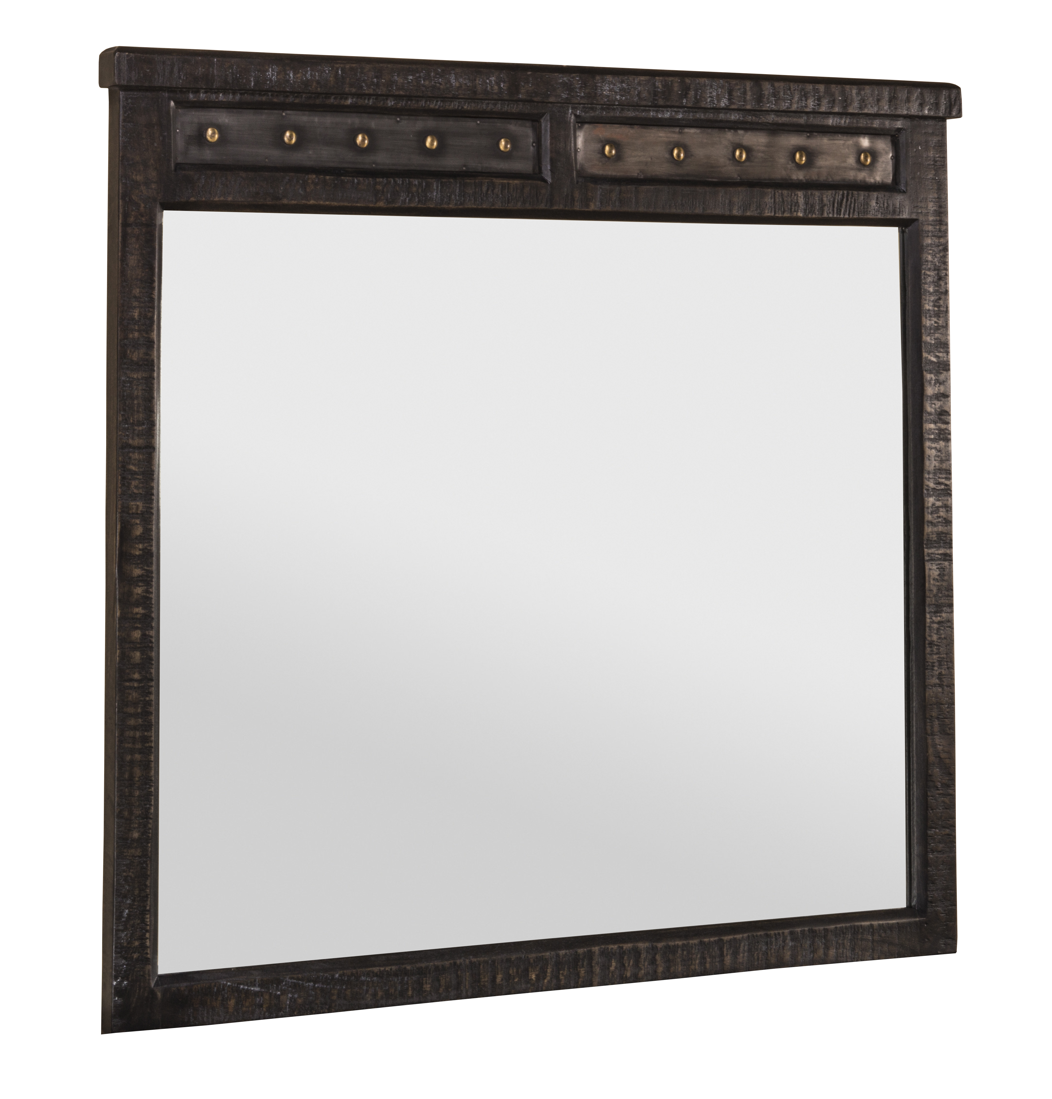 Hillsdale Furniture Bolt Mirror - Dark Graywash