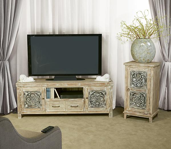 Hillsdale Furniture Hundley Entertainment - White Wash