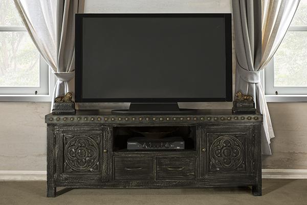 Hillsdale Furniture Hundley Entertainment Unit - Distressed Dark Gray