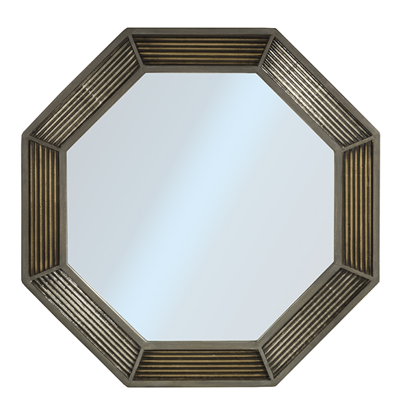 Hillsdale Furniture BAYSHORE OCTAGONAL MIRROR - DISTRESSED GRAYWASH