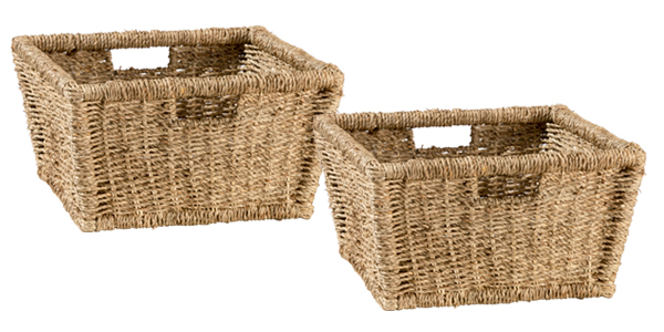 Tuscan Retreat Blanket Bench Baskets (2) - Seagrass