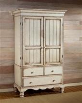 Hillsdale Furniture Wilshire Armoire Antique White