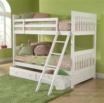 Hillsdale Furniture LAuren Twin Bunk Bed with Trundle/Storage Drawer
