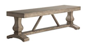 ARABELLA BENCH BASE - DISTRESSSED GRAY