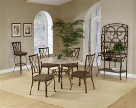 Brookside 5pc Round Set and Diamond Chairs