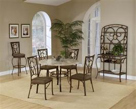 Brookside 5pc Set with Round Table and Oval Chairs