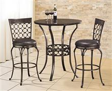 Hillsdale Furniture Brescello 3-Piece Bar Height Bistro Dining Set