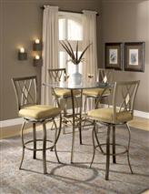 Hillsdale Furniture Brookside 3pc Bistro Set w/ Diamond Barstools