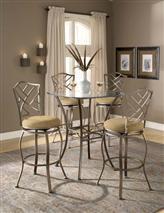 Hillsdale Furniture Brookside 5pc Bistro Set with Hanover Barstools