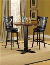 Hillsdale Furniture Dynamic Designs 3pc Pub Set w/ Van Draus Stools