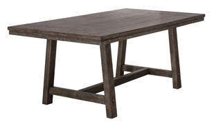 """Hillsdale Furniture Legacy Rectangle Dining Table with Two 10"""" Leaves - Dark Gray"""
