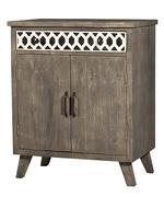 Hillsdale Furniture ARTESA 2 DOOR CABINET - Bone Drawer Fronts - DISTRESSED BROWN GRAY