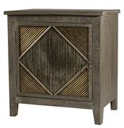 Hillsdale Furniture BAYSHORE END TABLE/NIGHTSTAND - DISTRESSED GRAYWASH