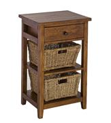 Hillsdale Furniture Tuscan Retreat® 2 Basket Stand - Antique Pine