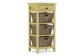 Hillsdale Furniture Tuscan Retreat® 3 Basket 1 Drawer Open Side Stand - Calypso Yellow