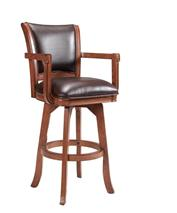 Hillsdale Furniture Park View Swivel Barstool - Medium Brown Oak