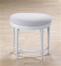 Hillsdale Furniture CAPE MAY VANITY STOOL - MATTE WHITE