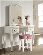 Hillsdale Furniture Clover Vanity Stool - Blush