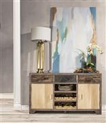 Hillsdale Furniture BOLERO SOFA TABLE with CABINETS AND CENTER WINE RACK