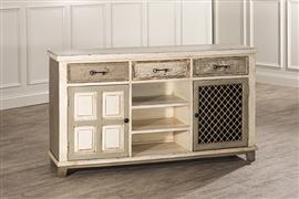 Hillsdale Furniture LAROSE CONSOLE TABLE with 2 DOOR STORAGE and WINE RACK