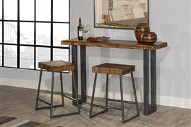 Hillsdale Furniture Emerson Sofa Table and (2) Non-Swivel Counter Stools