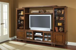 Hillsdale Furniture Grand Bay Entertainment Large Wall Unit - Pine
