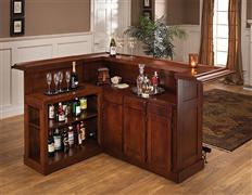 Hillsdale Furniture Classic Brown Cherry Side Bar