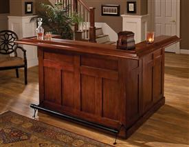 Hillsdale Furniture Classic Cherry Large Bar with Side Bar