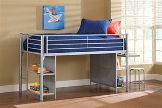 Hillsdale Furniture Brayden Junior Loft w/ Desk and Stool