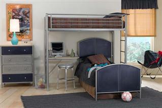 Hillsdale Furniture Brayden Loft Twin Bed with Dresser and Mirror