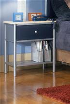 Hillsdale Furniture Brayden Nightstand Silver and Navy