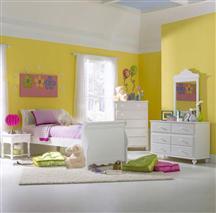 Hillsdale Furniture Lauren 4pc Twin Sleigh Bedroom Suite