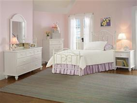 Hillsdale Furniture Westfield 4pc Twin Bedroom With Metal Bed