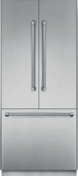 36 inch Pre-Assembled French Door Bottom Freezer with Professional Handles