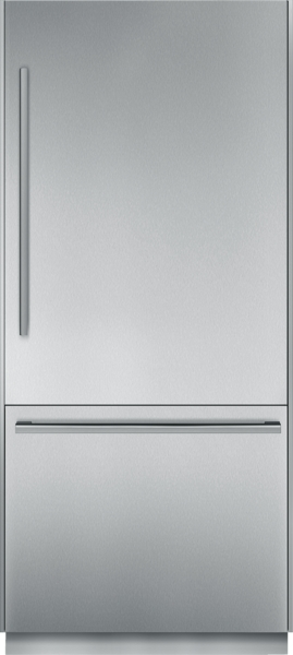 Thermador 36 inch Pre-Assembled Built-In Bottom-Freezer with Masterpiece Handles
