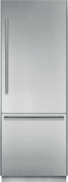 30 inch Pre-Assembled Built-In Bottom Freezer with Masterpiece Handles