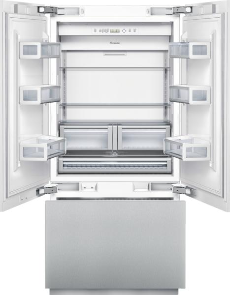 36 inch Custom Panel Built-In French Door Bottom-Freezer