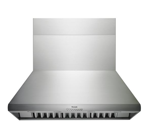 Model: HPCB48NS | Thermador 48 inch Professional Series 24 inch Depth Chimney Wall Hood /w Blower
