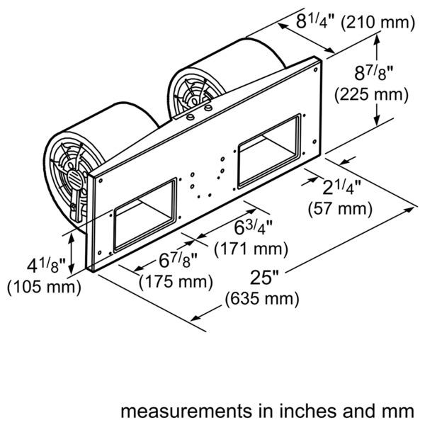 Model: VTN1030N   Thermador 1000 cfm Internal Blower